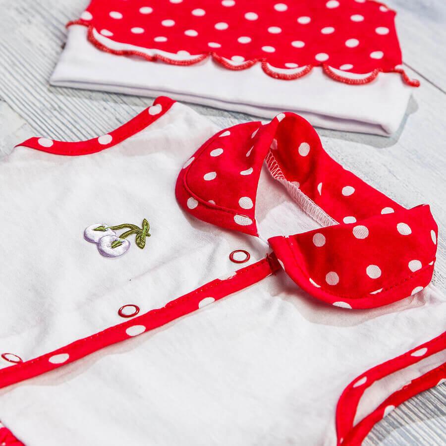 Платье и чепчик для девочки