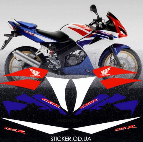 Набор виниловых наклеек на мотоцикл HONDA CBR 125R 2009