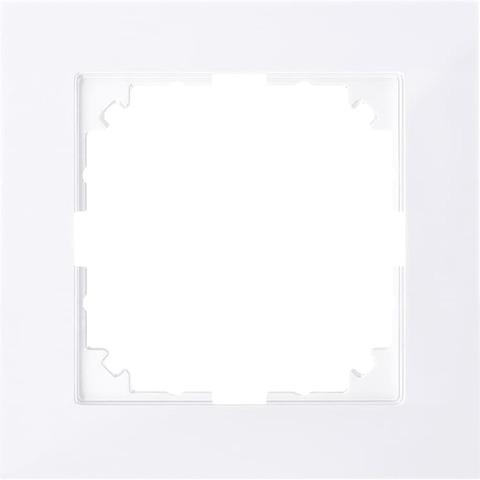 Рамка на 1 пост. Цвет Бриллиантовый белый. Merten. M-Pure System M. MTN4010-3625