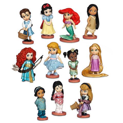 Игровой набор  из 11 миниатюрных Диснеевских принцесс в детстве, Disney Animators' Collection