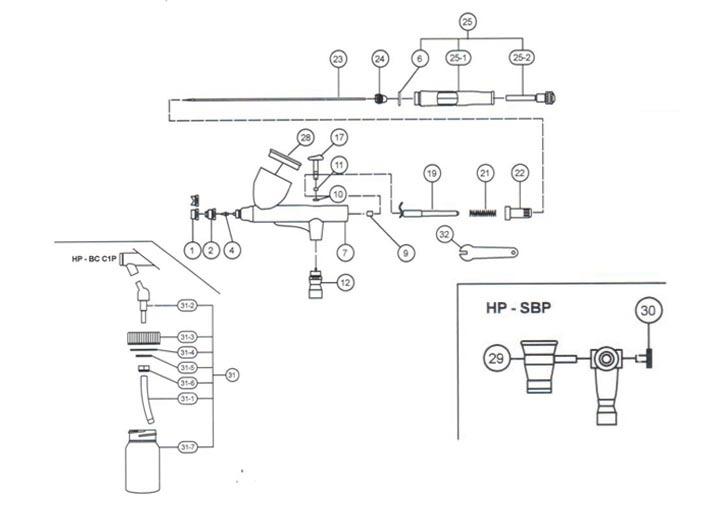 Аэрограф Iwata HP-BC1-Plus