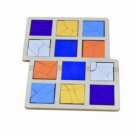 Логическая игра Сложи квадрат Б.П. Никитин уровень 3, RadugaKids (Радуга Кидс)