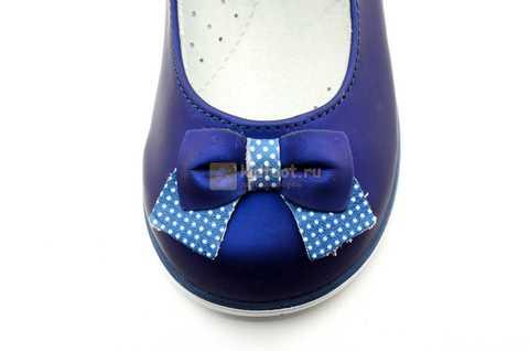Туфли ELEGAMI (Элегами) из натуральной кожи для девочек, цвет темно синий металлик, артикул 7-83351003. Изображение 10 из 12.