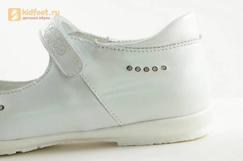 Туфли Тотто из натуральной кожи на липучке для девочек, цвет Белый, 10204D. Изображение 14 из 16.