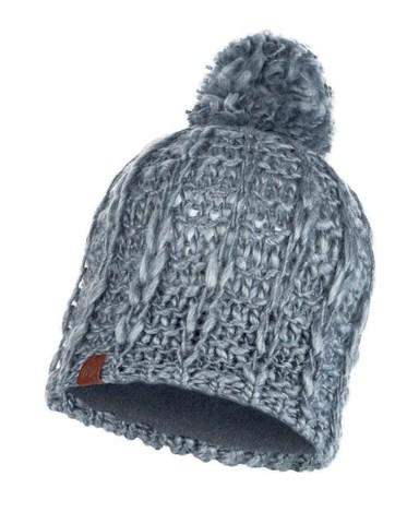 Шапка вязаная с флисом Buff Hat Knitted Polar Liv Pebble Grey