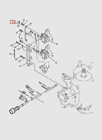 Крышка  для лодочного мотора T40 Sea-PRO (11-9)