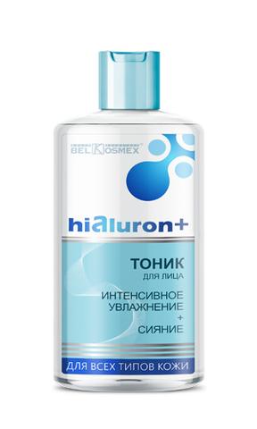 BelKosmex Hialuron+ Тоник для лица интенсивное увлажнение + сияние для всех типов кожи 150мл