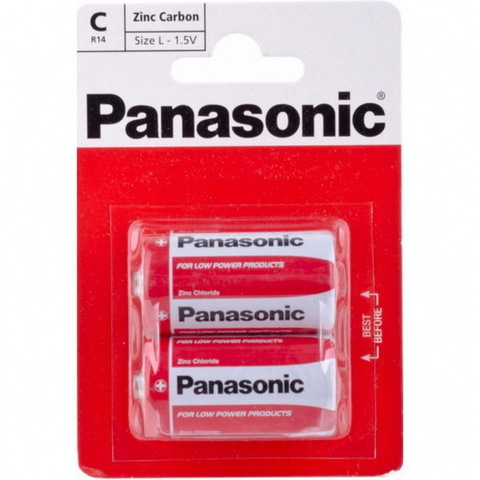 Батарейки Panasonic Special R14, C (2/24/120) BL