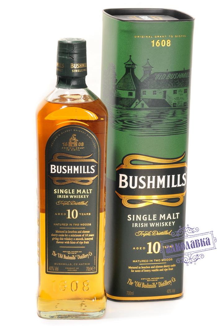 Виски Бушмиллс Молт 10 лет в п/у 0,7 43%