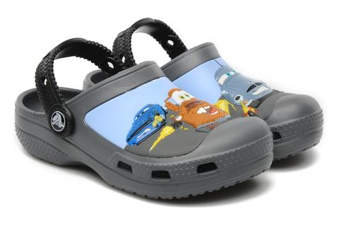 Сабо Крокс (Crocs) пляжные шлепанцы кроксы для мальчиков, цвет серый. Изображение 1 из 7.