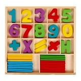 Набор счётных палочек, резных цифр и знаков, 120 элементов 1