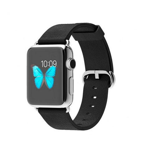 Apple Watch Stainless Steel Case with Black Classic Buckle