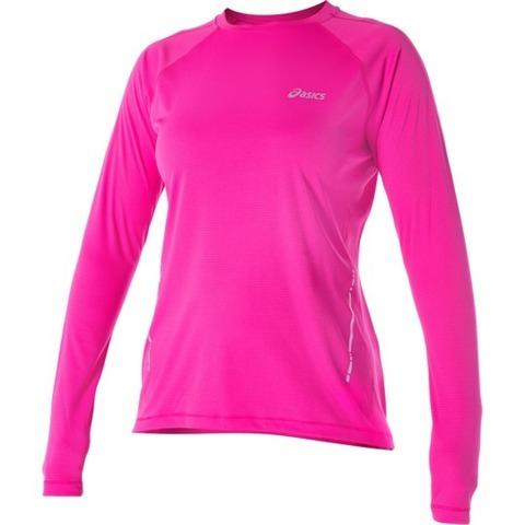 Рубашка Asics LS Top женская беговая Pink