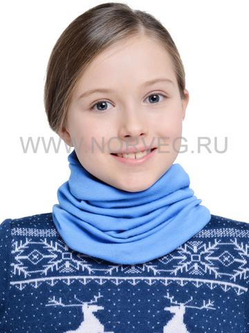 Детский баф с шерстью мериноса Norveg Монстр 7WBU-004 голубой- Интернет-магазин  Five-Sport.ru