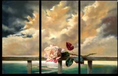 """Модульная картина """"Живописный бутон розы"""""""