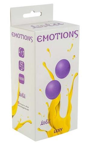Тяжелые вагинальные шарики без сцепки Emotions Lexy Large purple (3 см; 150 гр)