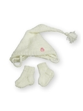 Комплект с шапкой - Белый. Одежда для кукол, пупсов и мягких игрушек.
