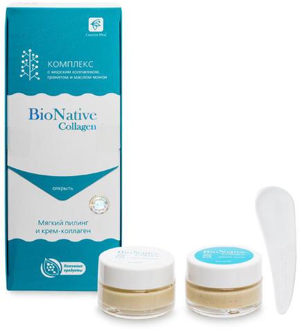 BioNative Collagen Мягкий пилинг и крем-коллаген, Сашера-Мед, 40 мл