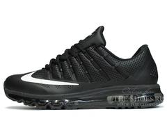 Кроссовки Мужские Nike Air Max 2016 Black Leather