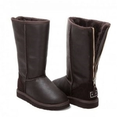 UGG Tall Zip Metallic Chocolate