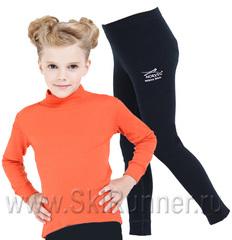 Комплект термобелья из шерсти мериноса Norveg Soft City Style Orange-Black детский
