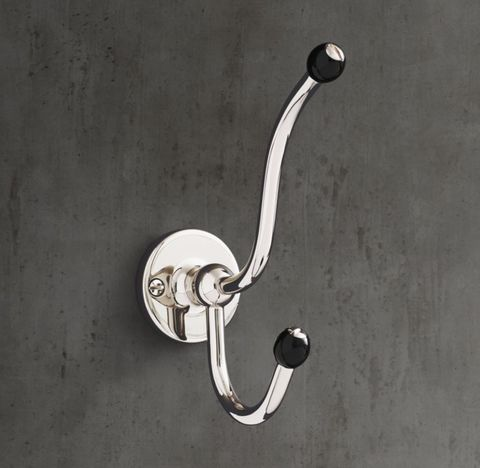 1900 Classic Double Robe Hook - Black