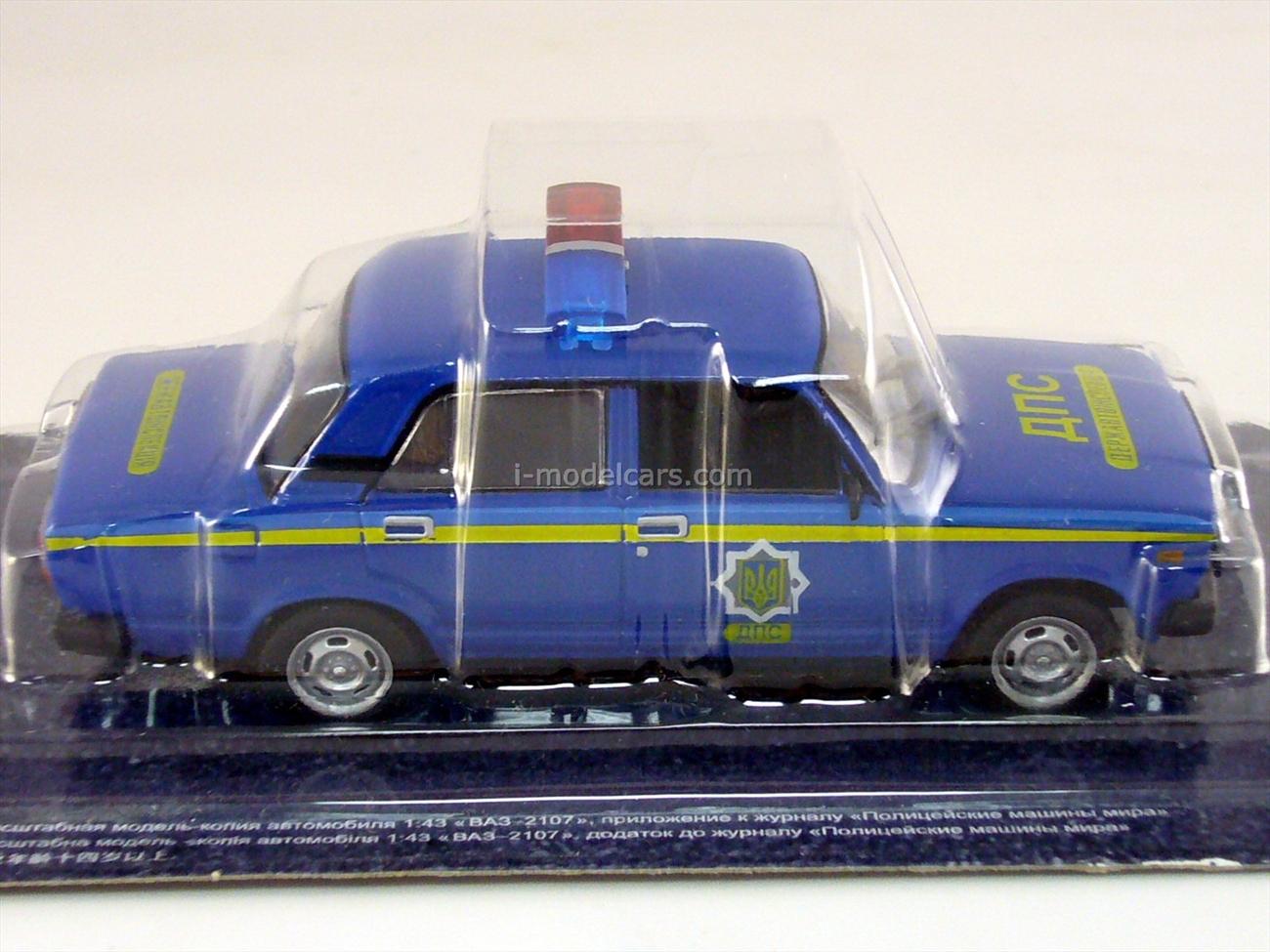 VAZ-2107 Lada Militsiya Ukraine 1:43 DeAgostini World's Police Car #29