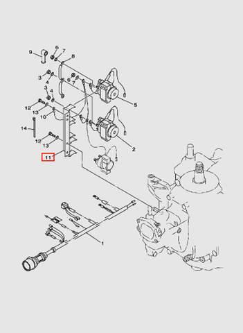 Опора  для лодочного мотора T40 Sea-PRO (11-11)