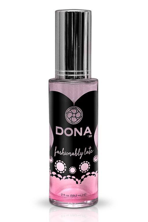 Духи и смазки для женщин: Женский парфюм с феромонами DONA Fashionably late - 59,2 мл.