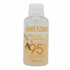 Farmstay Pure Cleansing Water White Flower - Очищающая вода с вытяжкой из белых цветов