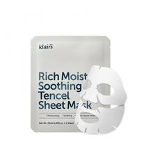 Успокаивающая увлажняющая тканевая маска, 25 мл / Dear, Klairs Rich Moist Soothing Tencel Sheet Mask