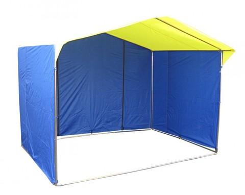 Торговая палатка Митек «Домик» 2,5 x 2 К из квадратной трубы 20х20 мм, тент ПВХ