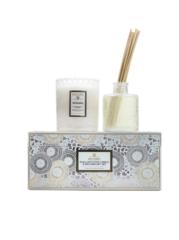 Ароматическая свеча и диффузор с маслом Voluspa Орхидея в подарочном подсвечнике