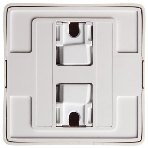 Розетка электрическая без заземления со шторками и пластиковой пластиной 10 А 250 В. Цвет Белый. Schneider Electric(Шнайдер электрик). Hit(Хит). RA10-137I-B