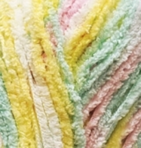 Пряжа Alize Softy желтый-зеленый-розовый 51300