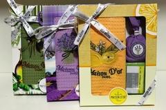 Набор: Полотенце вафельное в коробке   TRIO - ТРИО в размере 50х70 -1шт. /  Maison Dor  Турция