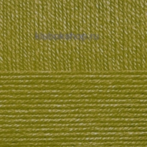Пряжа Детская новинка (Пехорка) цвет 33 золотая олива