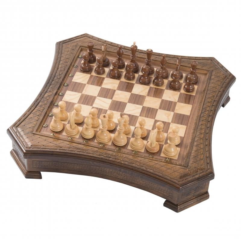 Шахматы резные восьмиугольные в ларце 50, Haleyan от 17 990 руб