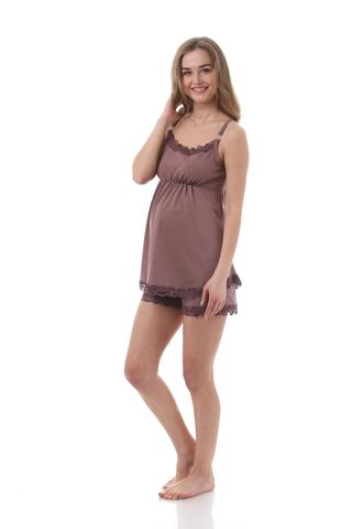 Пижама для беременных 09988 коричневый