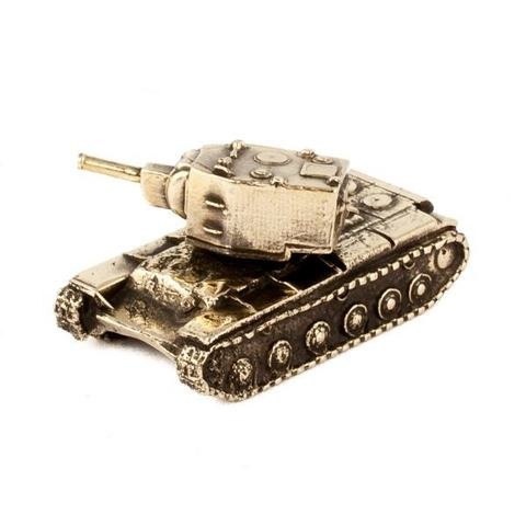 Танк Климент Ворошилов КВ-2 отечественного производства из бронзы RH00953
