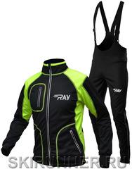 Утеплённый лыжный  костюм RAY STAR WS black-lime 2018 мужской