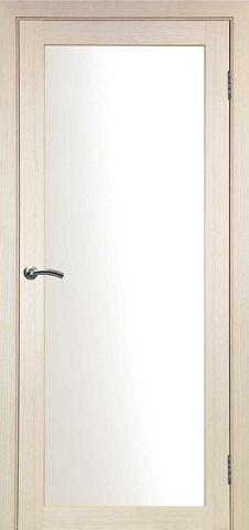 > Экошпон Optima Porte Турин 501.2, стекло матовое, цвет беленый дуб, остекленная