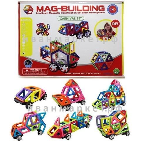 Магнитный конструктор 48 деталей Mag Building