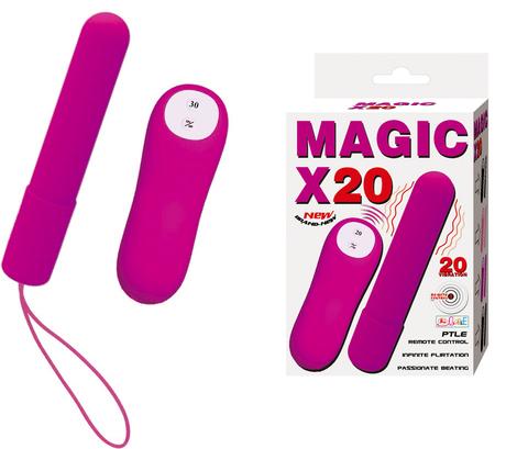 Розовая удлиненная вибропуля Magic x20