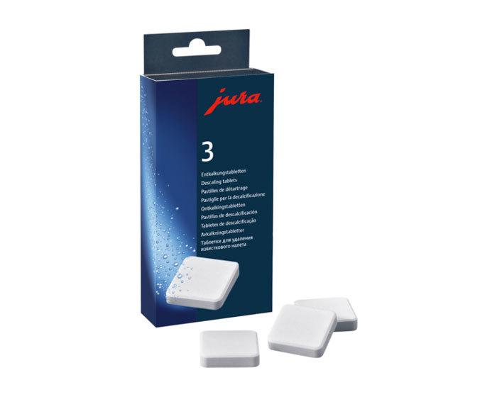 Таблетки для удаления известковых отложений солей от компании JURA