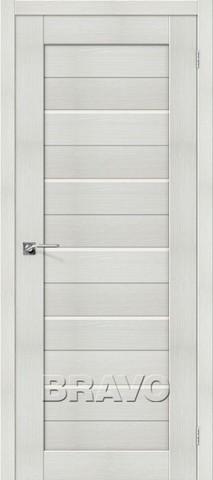 > Экошпон Bravo Порта-22, стекло Magic fog, цвет bianco veralinga, остекленная