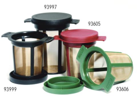 Чайный фильтр с крышкой 6 см зеленый