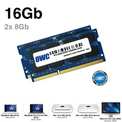 Комплект модулей памяти OWC 16GB (набор 2x 8GB) 1066MHZ DDR3 SO-DIMM PC3-8500 для Apple 2010 iMac, mac mini, macbook pro 1.5V