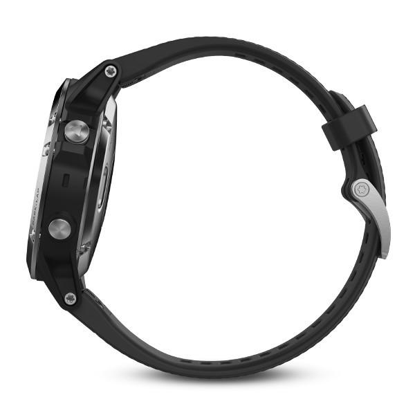 Fenix 5 серебристые с черным ремешком