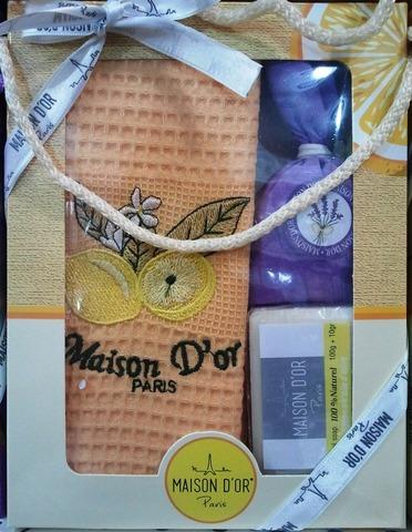 Набор Полотенце в коробке TRIO - ТРИО 50х70  Maison Dor  Турция